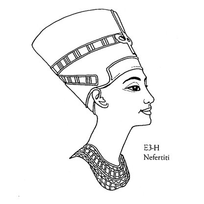 416x416 Collection Of Nefertiti Line Drawing High Quality, Free