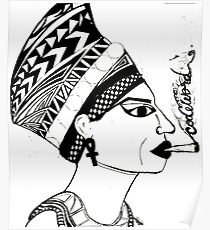 210x230 Queen Nefertiti Drawing Posters Redbubble