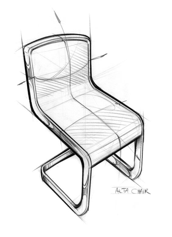 Negative Space Chair Drawing