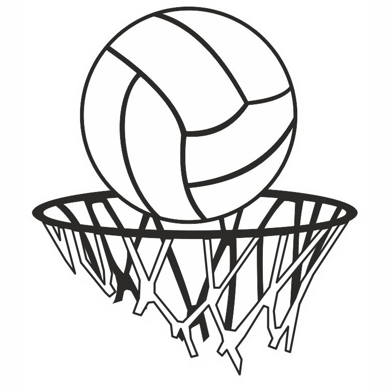 770x770 Collection Of Netball Post Drawing High Quality, Free