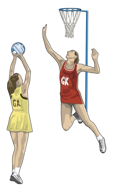 475x802 Collection Of Netball Player Drawing High Quality, Free