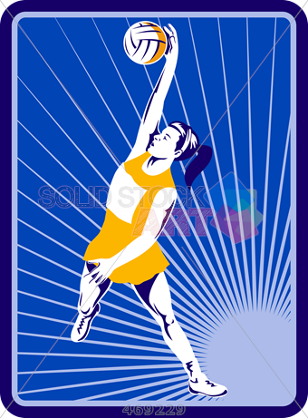 340x461 Stock Illustration Of Old Fashioned Cartoon Drawing Of Netball