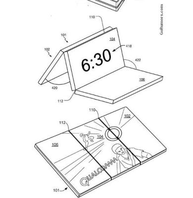 390x400 Qualcomm Patent Details All In One Folding Tablet, Phone, Netbook