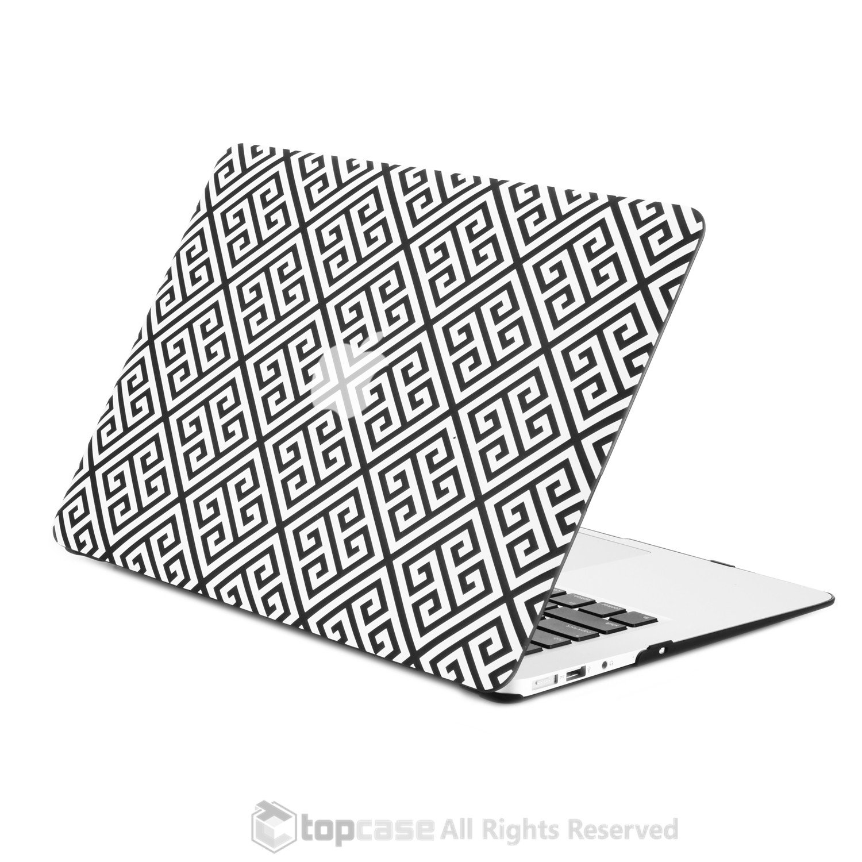 1500x1500 Black Greek Key Rubberized Hard Case For Macbook Air 13 Top Case