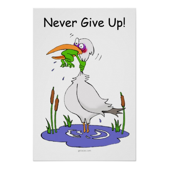 540x540 Never Give Up Poster