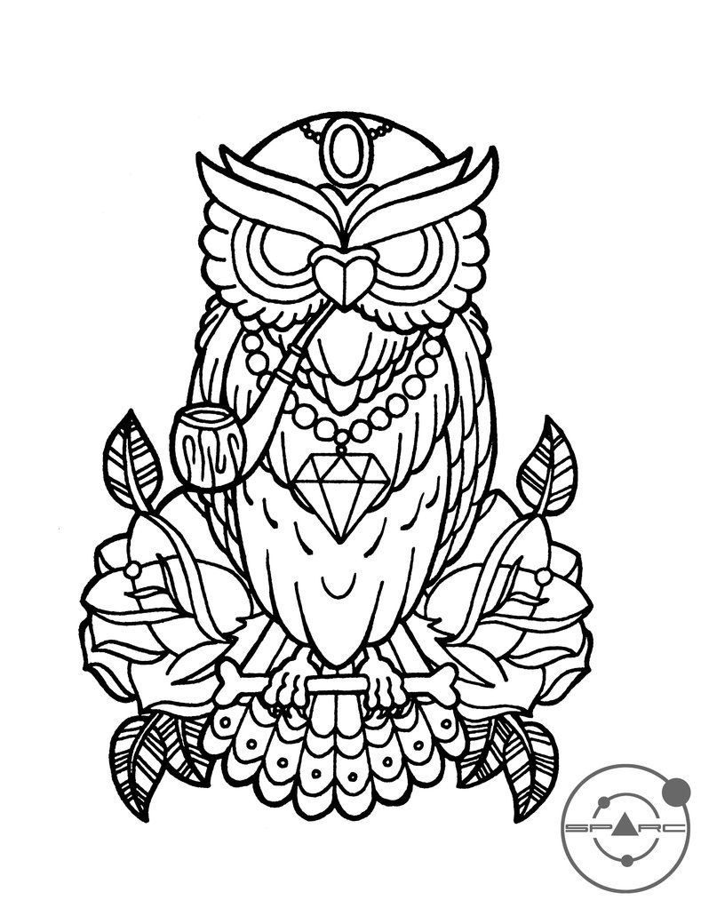 789x1013 Popular Owl Outline Drawing Tattoo Flash Of Her Tattoos For New