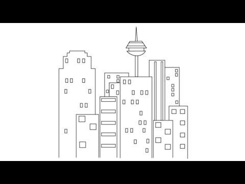 480x360 How To Draw A City