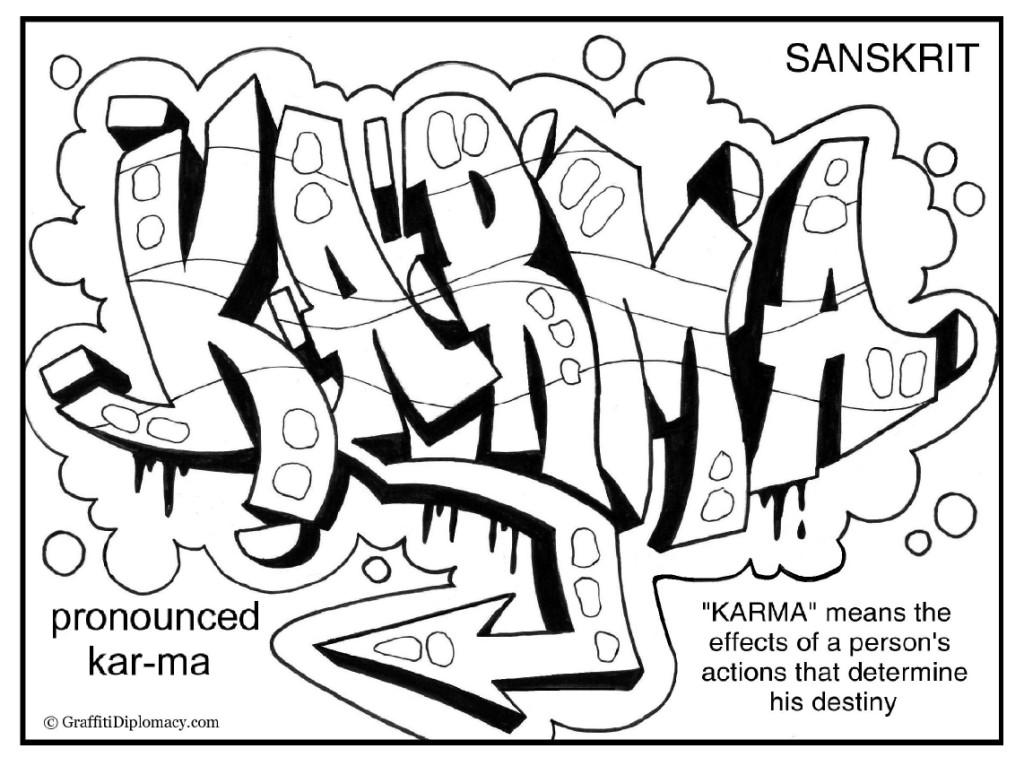 1024x766 Multicultural Graffiti Free Coloring Pages