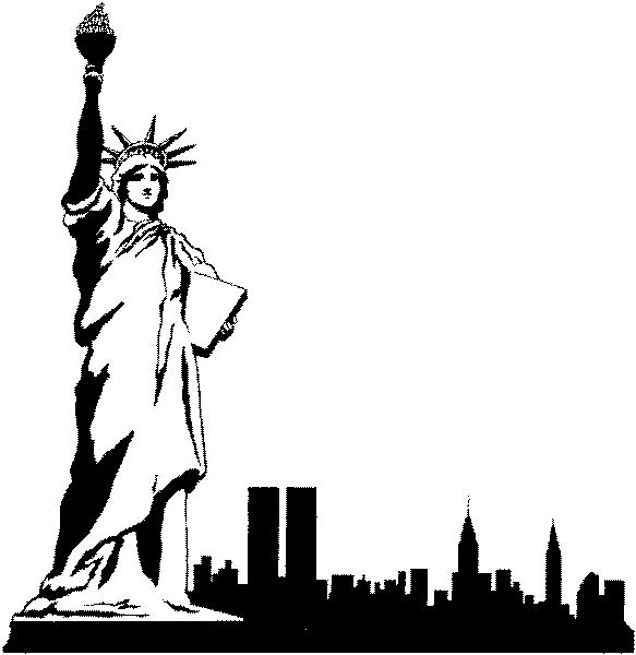 583x600 Collection Of New York City Cartoon Drawing High Quality