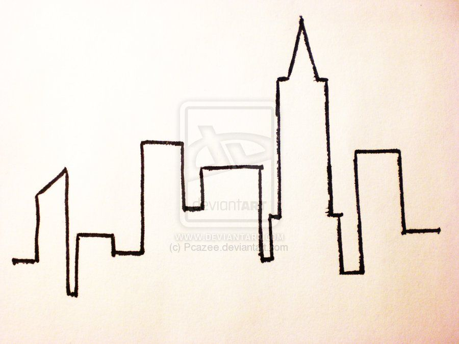900x675 Nyc Skyline By ~pcazee On Ink Nyc Skyline