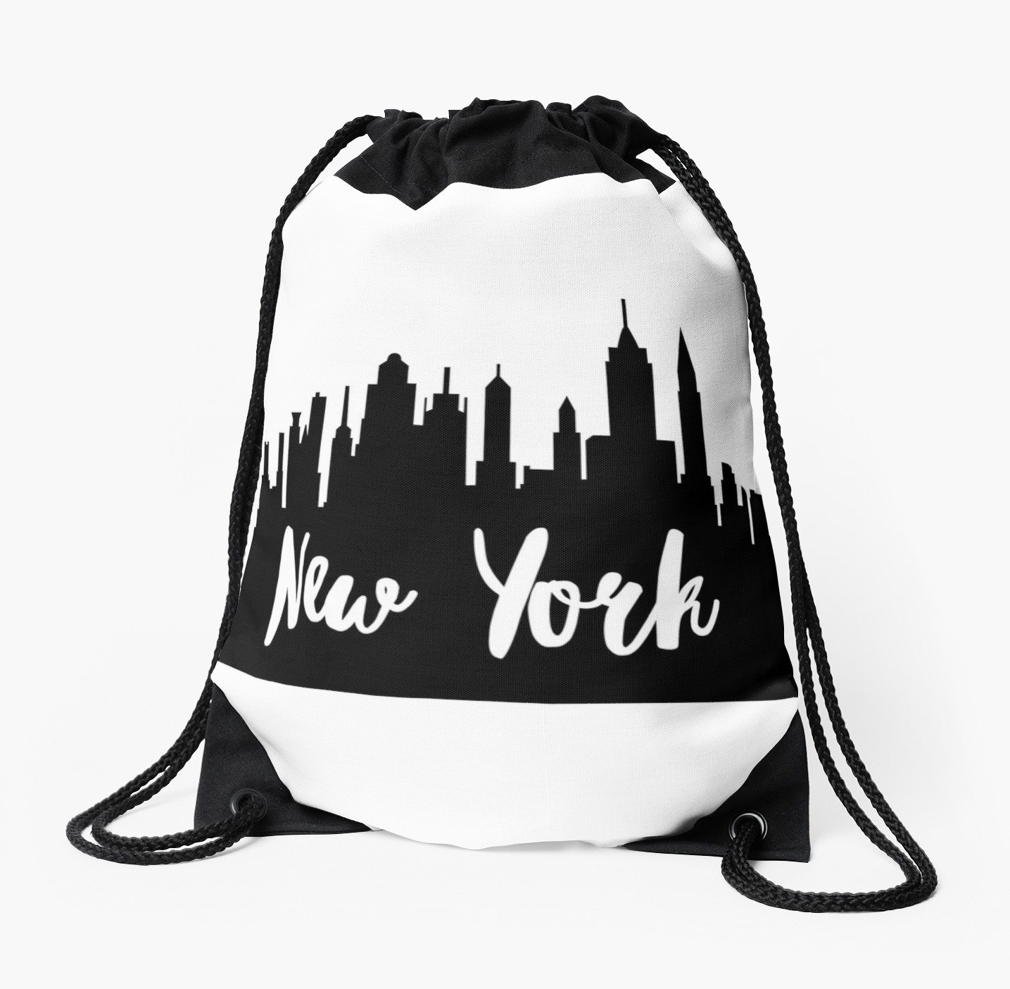 1435x1404 New York City Skyline Silhouette Drawstring Bags By Ashleylcoop