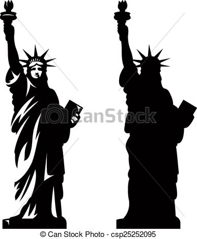 387x470 Statue Of Liberty 2. Statue Of Liberty. New York Landmark . Eps