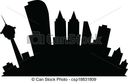 450x290 Drawn Skyline Clipart