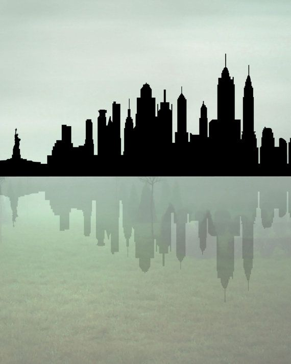 570x713 New York Skyline, Printable Art, New York Silhouette, City Skyline