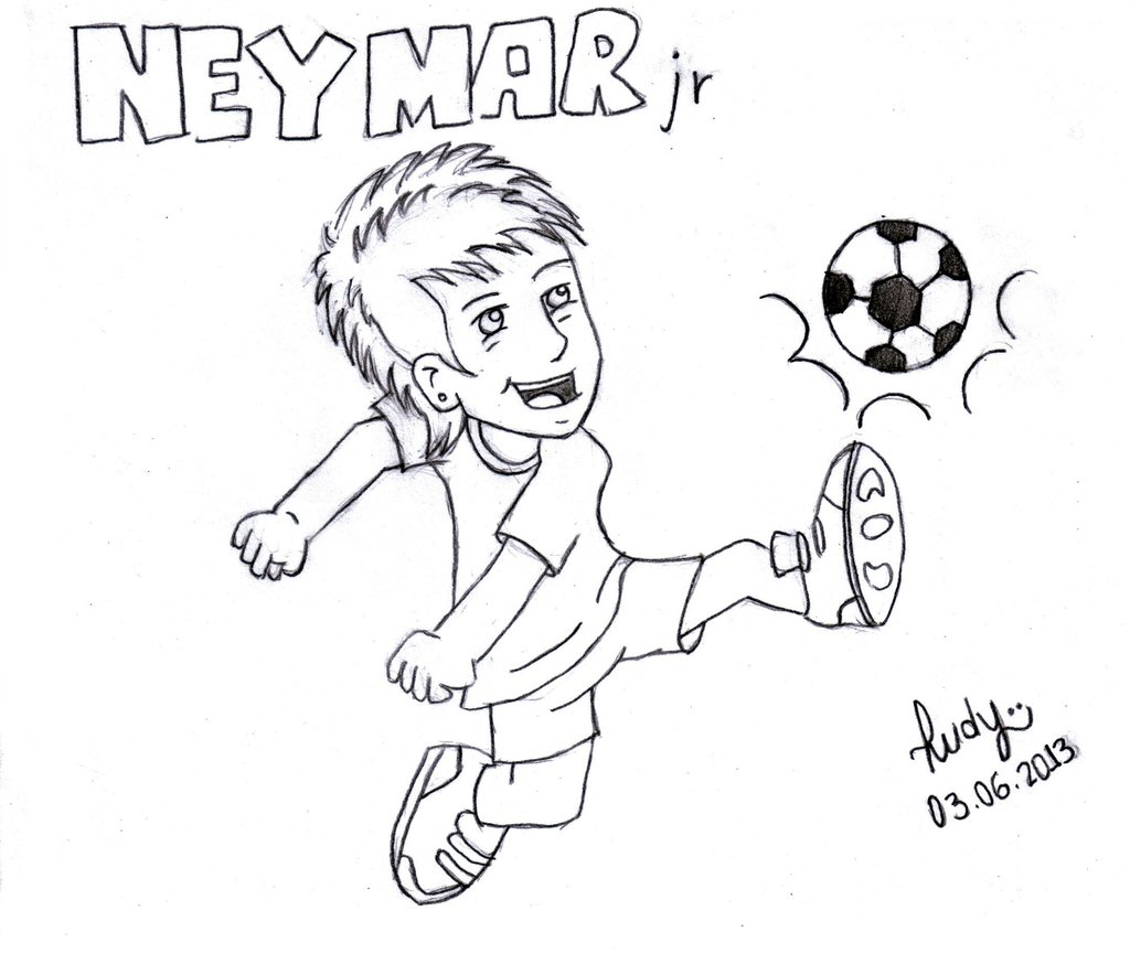 1024x864 Collection Of Neymar Cartoon Drawing High Quality, Free