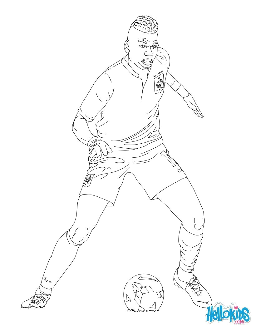 820x1060 Neymar Coloring Page