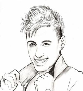 268x292 Neymar Coloring Pages