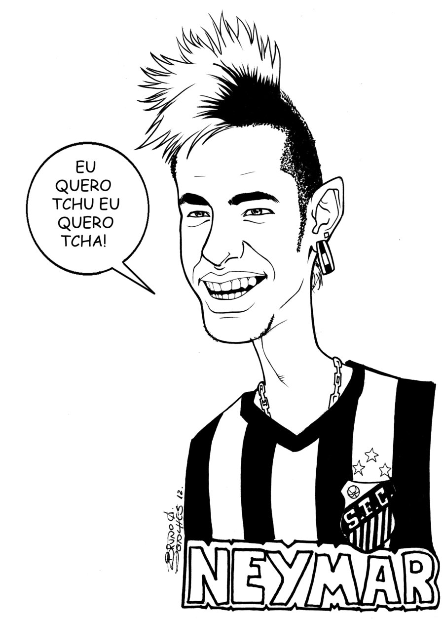 900x1255 Neymar Caricature By Brunoultimate