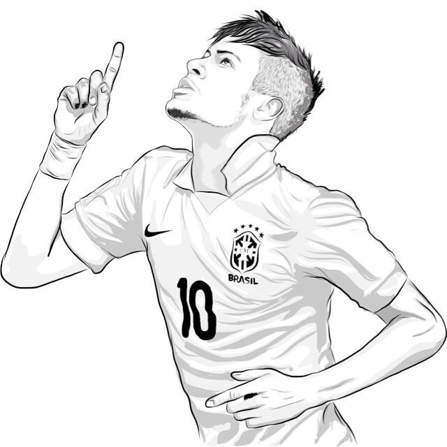 640x640 Neymar Jr Coloring Pages Neymar Top Soccer Player Coloring Sheet