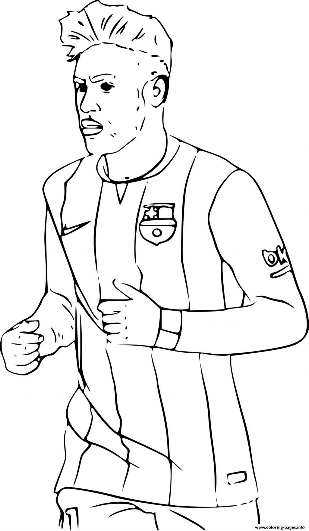1024x1757 Coloring Book And Pages ~ Soccering Pages Neymar Of Ronaldo