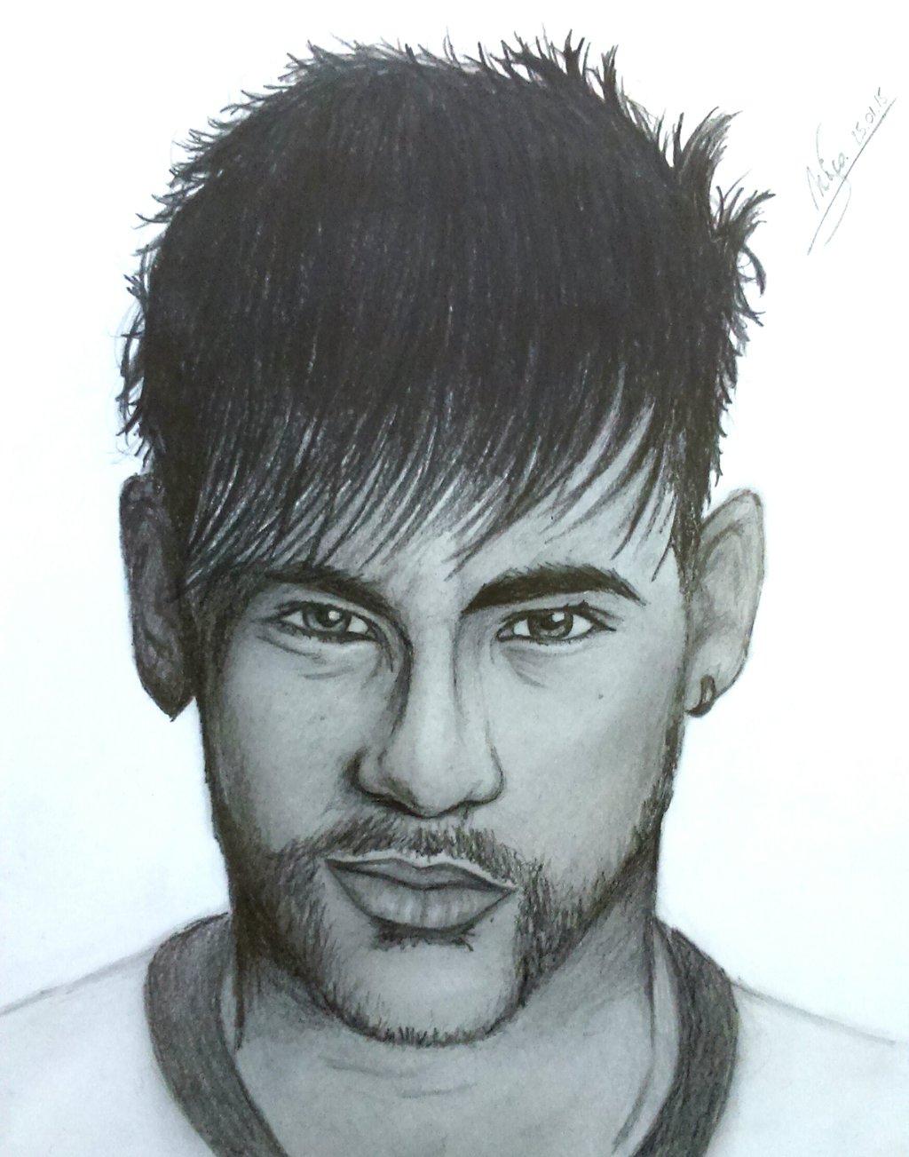 1024x1303 Pencil Portrait Neymar Step By Step Stepstep Neymar Jrnicoo1995