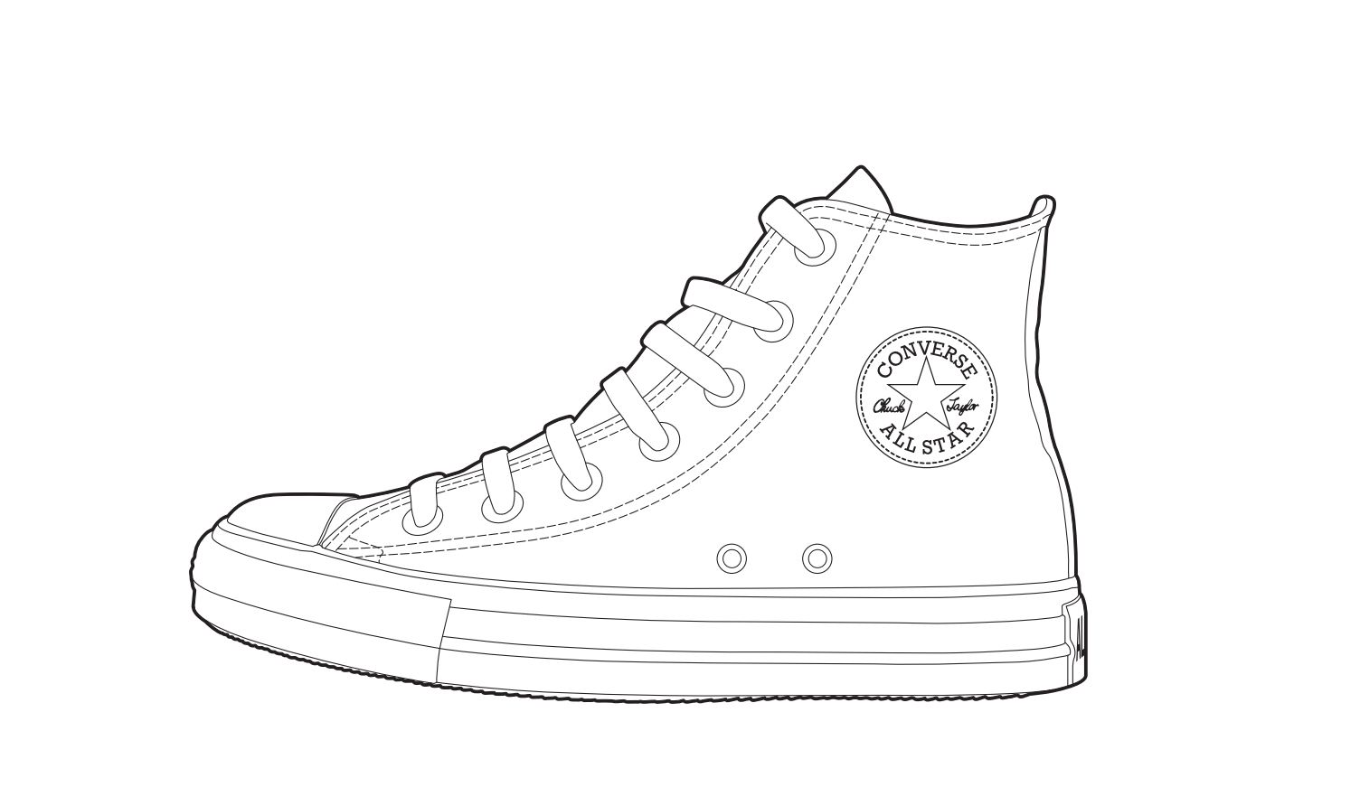 1504x892 Collection Of Nike High Tops Drawing High Quality, Free