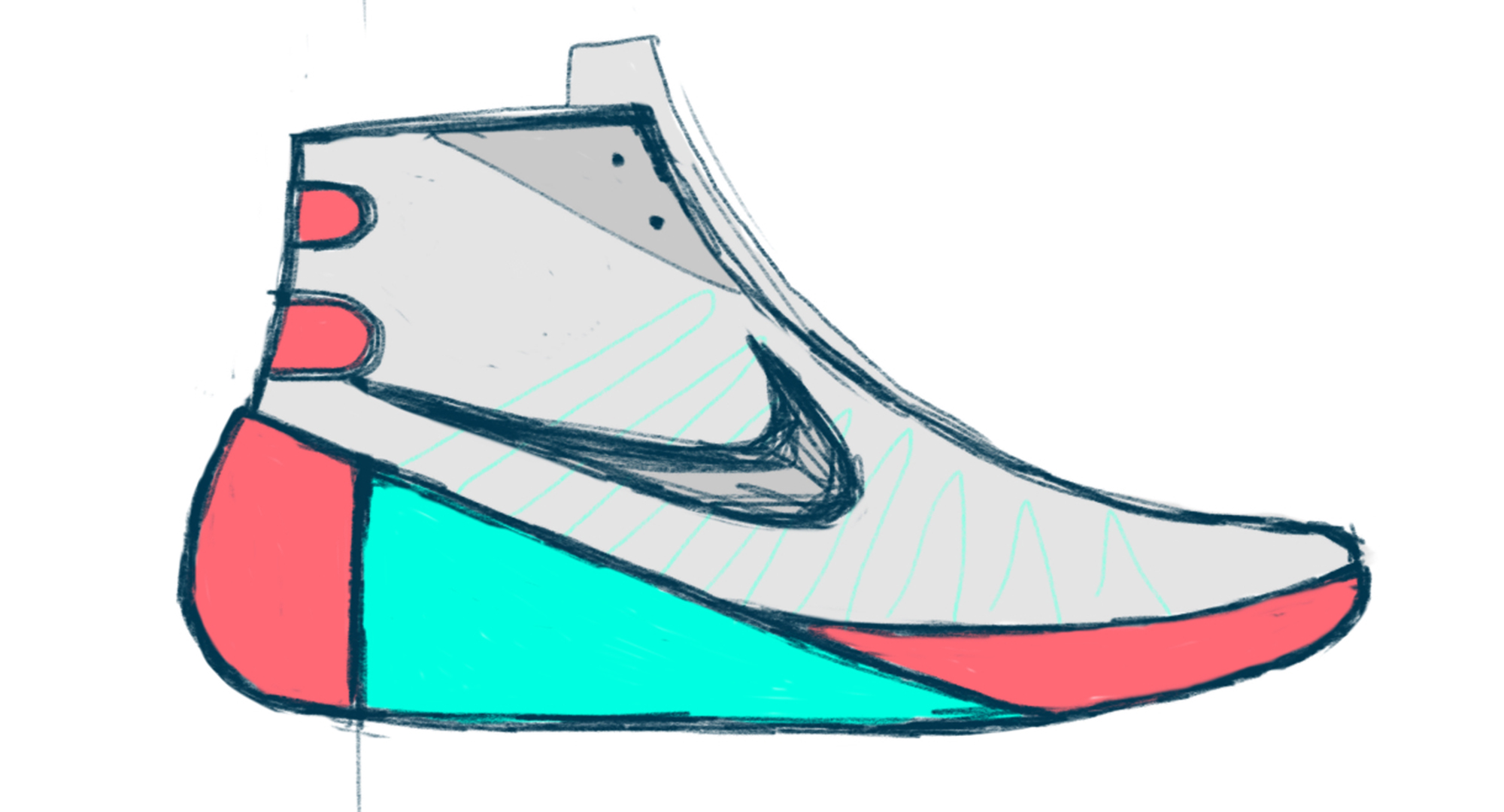 2000x1080 Collection Of Nike High Tops Drawing High Quality, Free