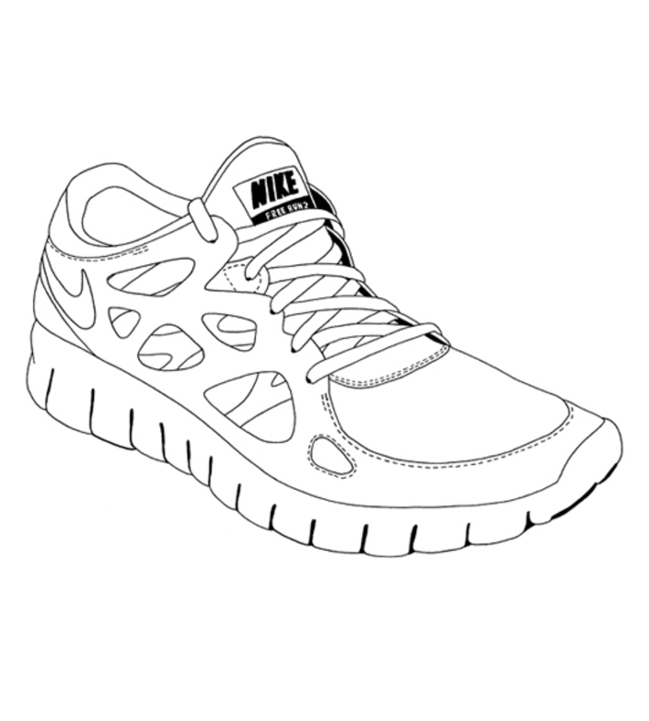 Nike Running Shoe Drawing