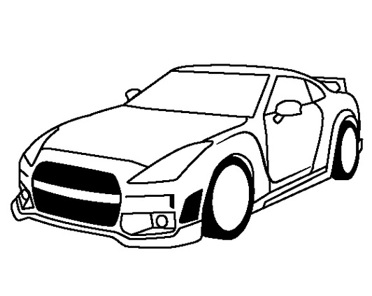 532x424 Coloring Pages Nissan Gtr Best Of Nissan Drawing