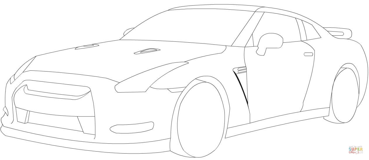 1263x548 20 Gtr Coloring Pages Selection Free Coloring Pages