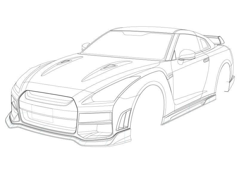 Nissan Gtr R35 Drawing At Getdrawings Com