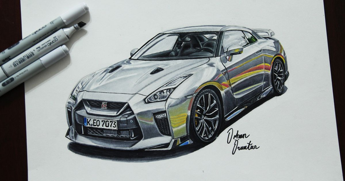 1200x630 Nissan Gt R Concept Gtr Drawing