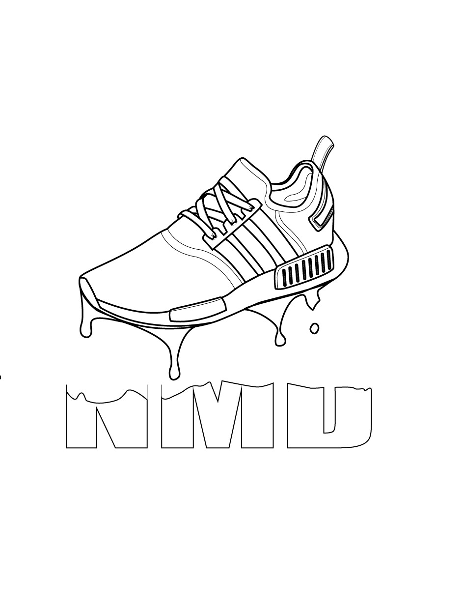 943x1241 Collection Of Adidas Nmd Drawing High Quality, Free Cliparts