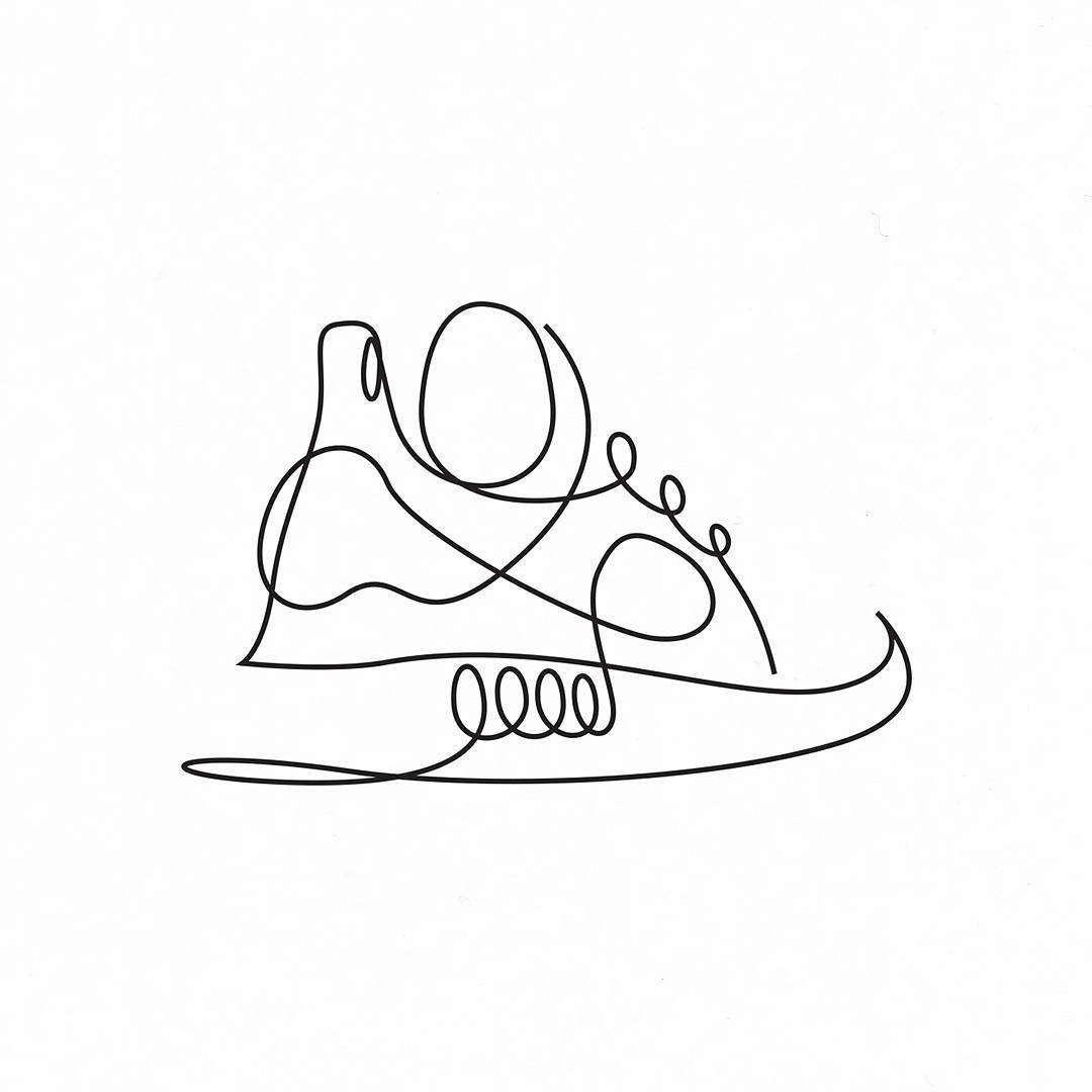 1080x1080 Single Line Illustration Nmd Created For Adidas By Artist Duo Dft