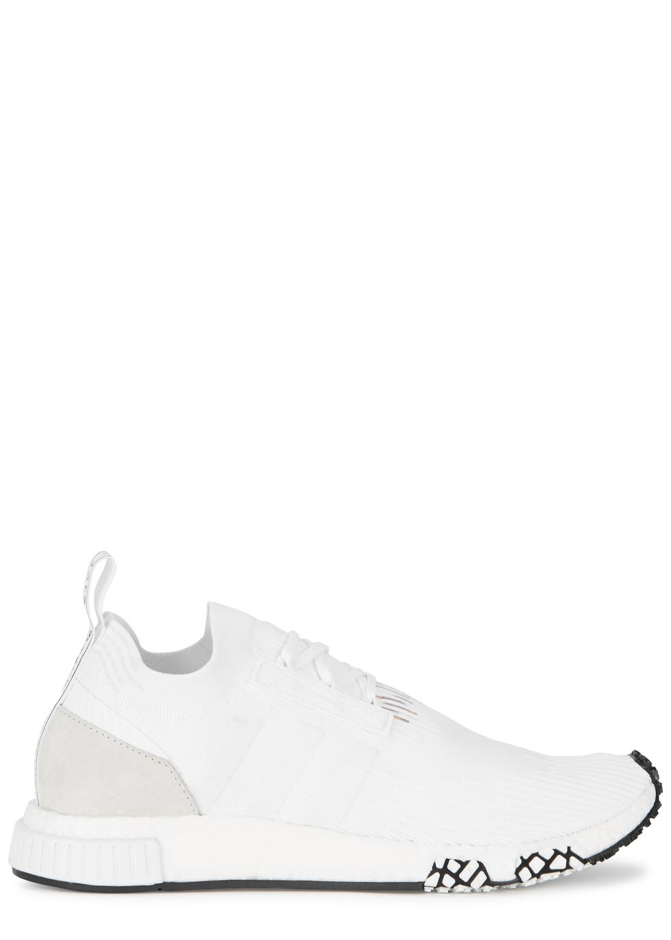 980x1372 Adidas Originals Nmd Racer White Primeknit Trainers