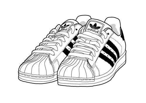 500x354 Adidas Superstar Illustration By Yula Eye Love