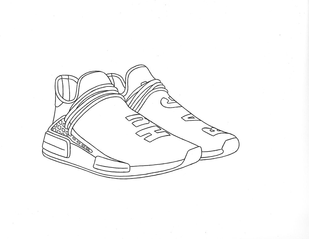 1000x773 Collection Of Nmd Drawing High Quality, Free Cliparts