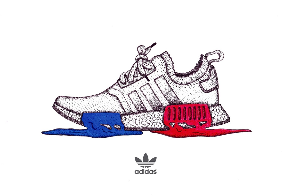 1200x810 Collection Of Adidas Nmd Drawing High Quality, Free Cliparts