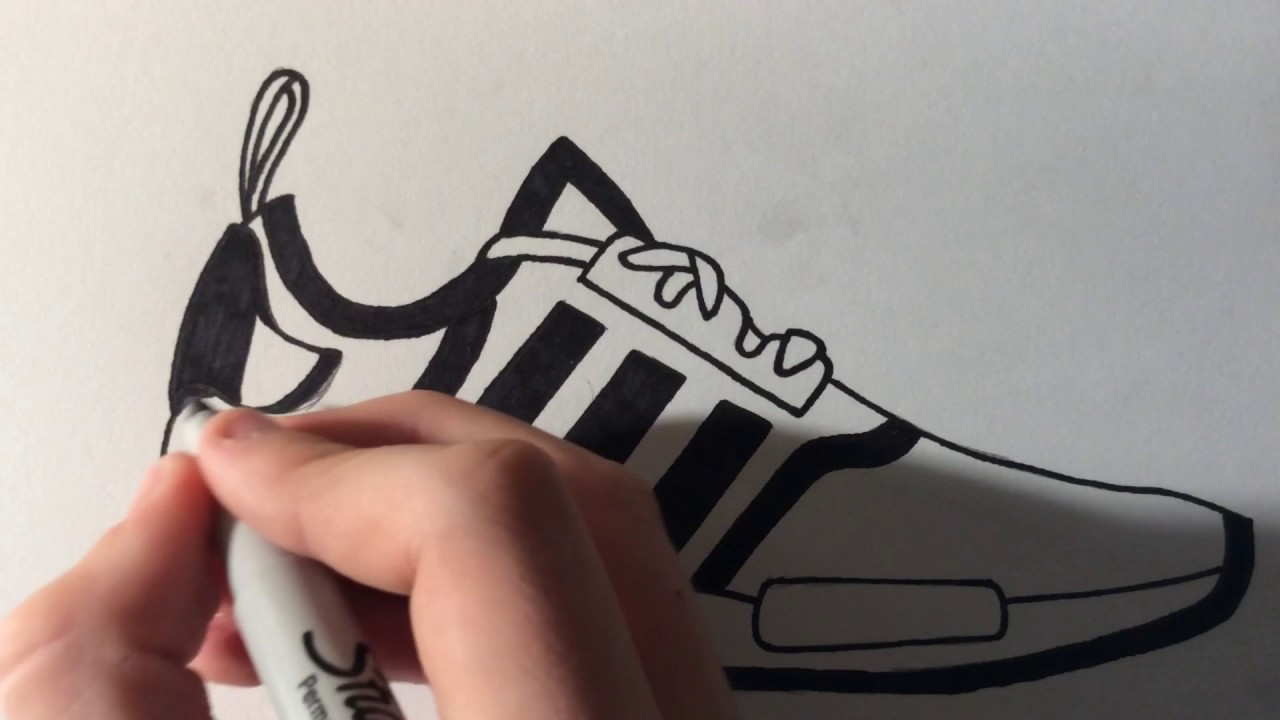 1280x720 Adidas Nmd's Drawing (Time Lapse)
