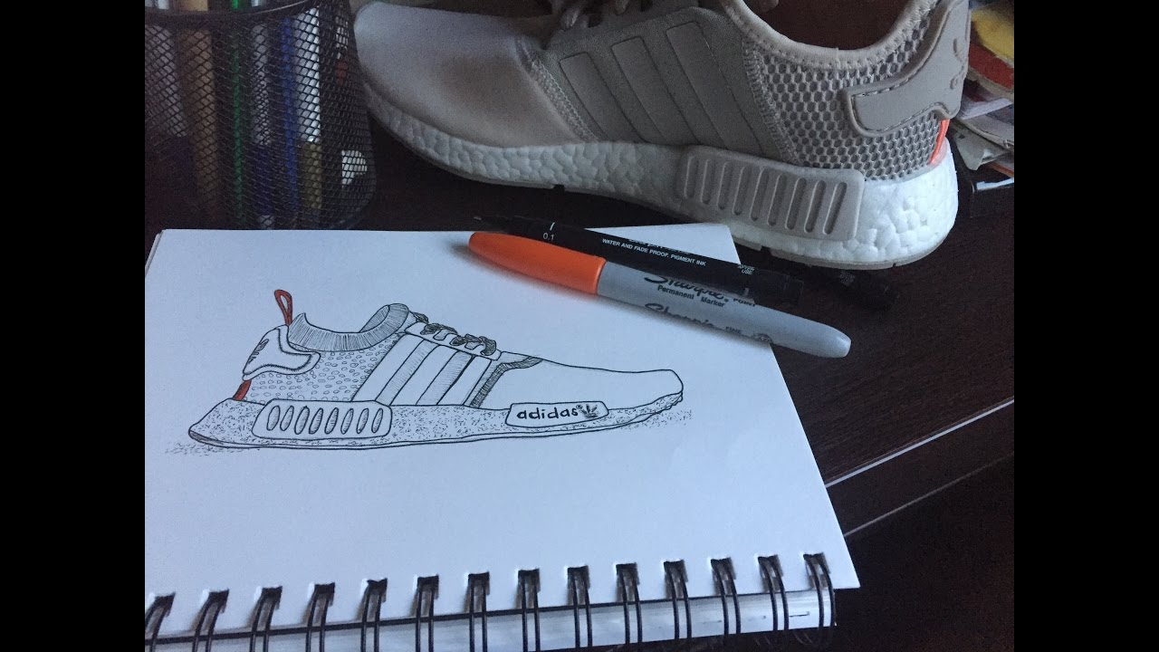 1280x720 How To Draw Nmd Adidas Doodle Art By Iksill