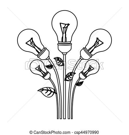 450x470 Normal Save Bulbs Plant Icon, Vector Illustration Design Eps