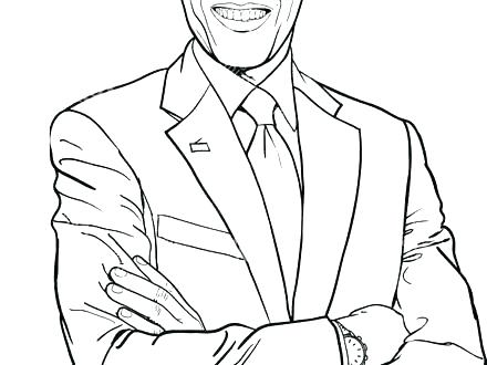 440x330 President Coloring Pages President Monson Coloring Page President