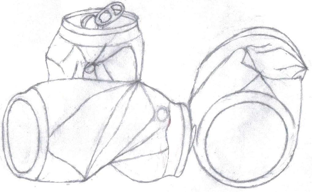 1019x627 Pencil Drawing Crushed Cans