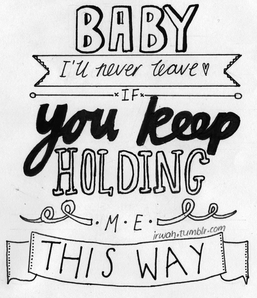 One Direction Lyric Drawing
