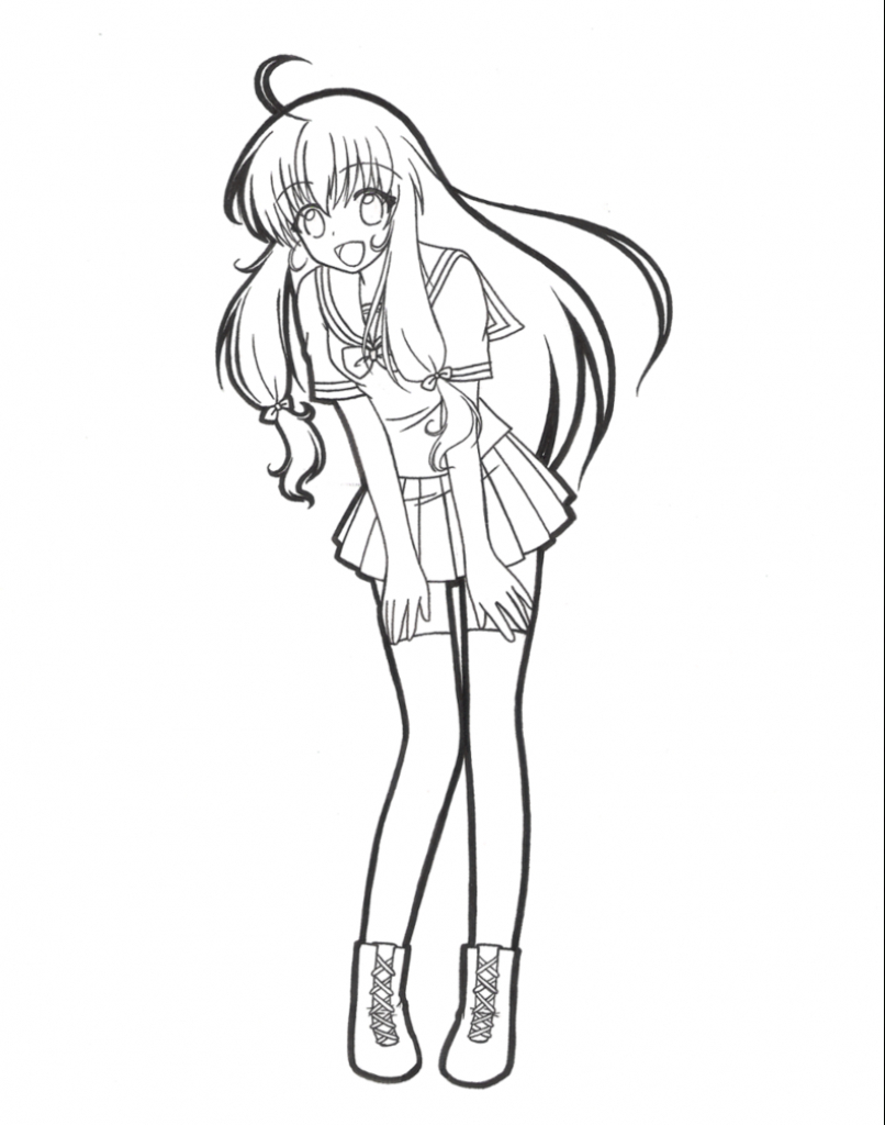 806x1024 Anime High School Girl Drawing Just Your Ordinary High School Girl