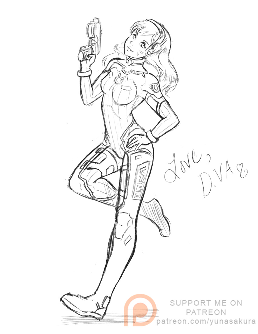 850x1100 Love, D.va! Sketch