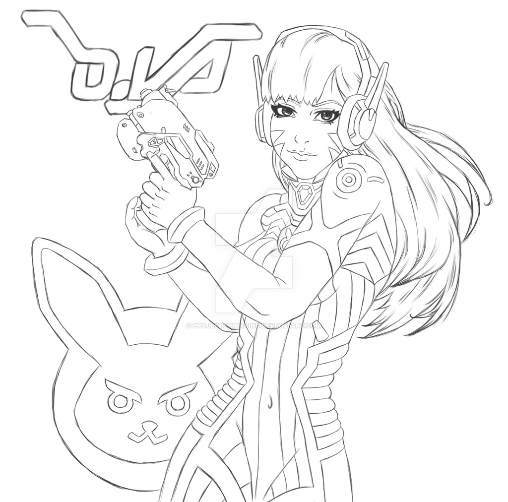 1024x1012 Collection Of Dva Overwatch Drawing High Quality, Free