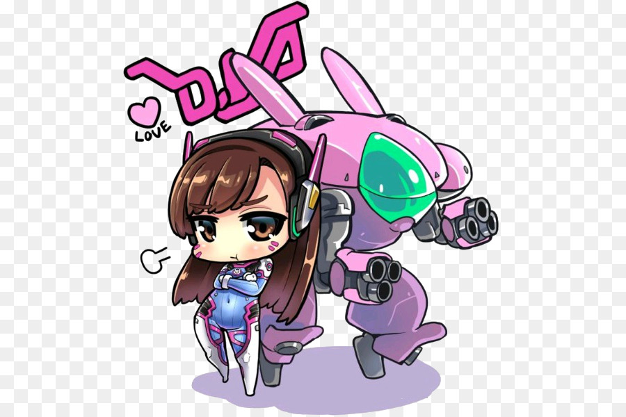 900x600 Overwatch D.va Chibi Drawing Fan Art