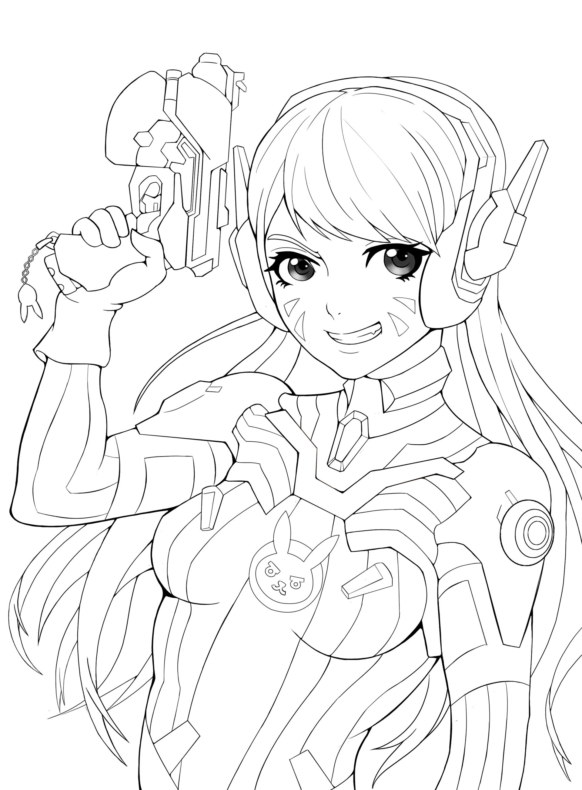 1920x2608 Coloriage Overwatch Contemporain En Ligne Artstation Overwatch Dva