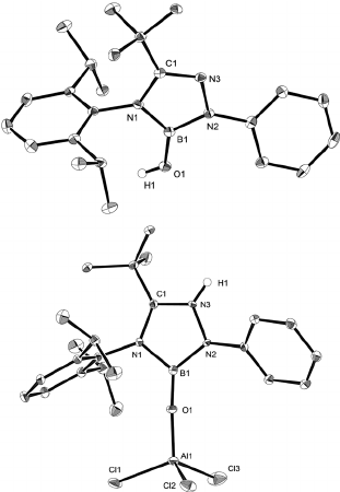 311x450 Ortep Drawings Of 3 (Top) And 5 (Bottom), All Hydrogen Atoms